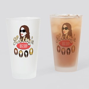 Letty's Wig Shop Drinking Glass