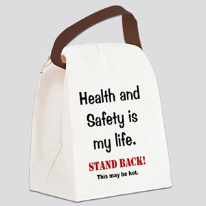Health and Safety Funny Health Wa Canvas Lunch Bag