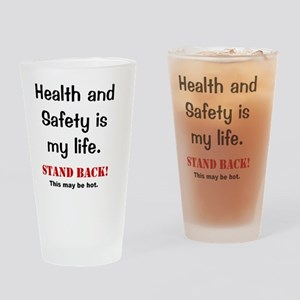 Health and Safety Funny Health Warn Drinking Glass