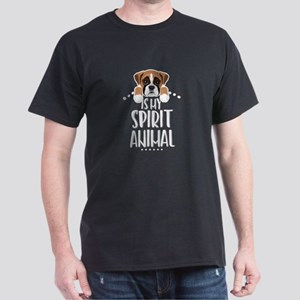 Boxer Is My Spirit Animal Dark T-Shirt