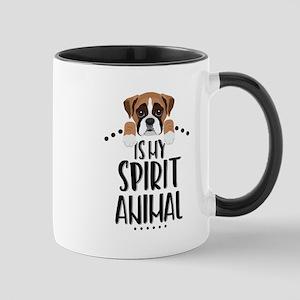 Boxer Is My Spirit Animal 11 oz Ceramic Mug