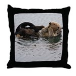 California Sea Otter Throw Pillow