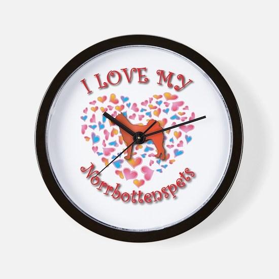 Love Norrbottenspets Wall Clock