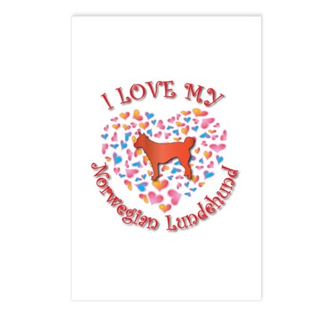 Love Lundehund Postcards (Package of 8)