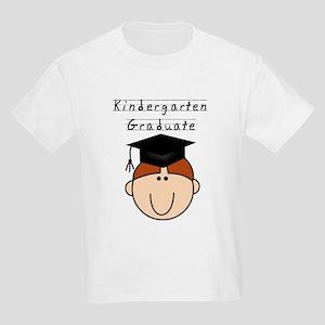 Boy Kindergarten Grad (redhead) Kids Light T-Shirt