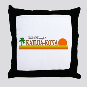 Visit Beautiful Kailua-Kona, Throw Pillow