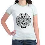 Celtic Knotwork Dragons Women's Ringer T-shirt