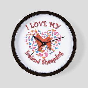 Love Sheepdog Wall Clock