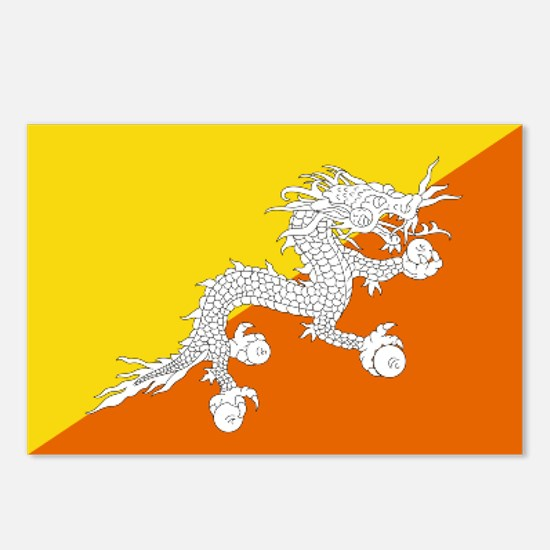 Bhutanese flag Postcards (Package of 8)