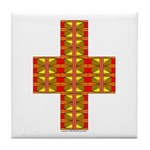 Megalithic Cross Tile Coaster