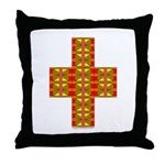 Megalithic Cross Throw Pillow
