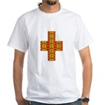 Megalithic Cross White T-Shirt