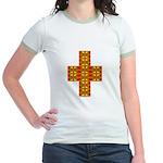 Megalithic Cross Jr. Ringer T-Shirt