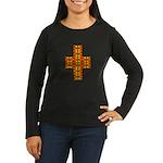 Megalithic Cross Women's Long Sleeve Dark T-Shirt