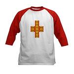 Megalithic Cross Kids Baseball Jersey