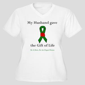 Husband Donor Women's Plus Size V-Neck T-Shirt