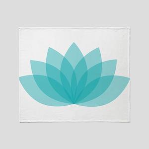 Lotus Blossom Throw Blanket