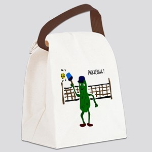 Pickle Playing Pickleball Canvas Lunch Bag