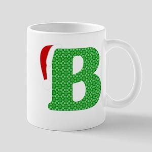 Christmas Monogram Letter B 11 oz Ceramic Mug