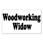 Woodworking Widow Rectangle Sticker