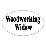 Woodworking Widow Oval Sticker