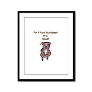Proud Pitbull Grandparent Framed Panel Print
