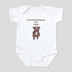Proud Pitbull Grandparent Infant Bodysuit