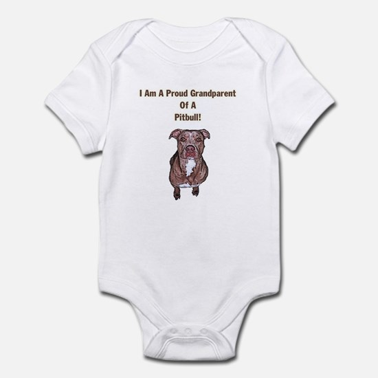 Proud Pitbull Grandparent Infant Bodysuit