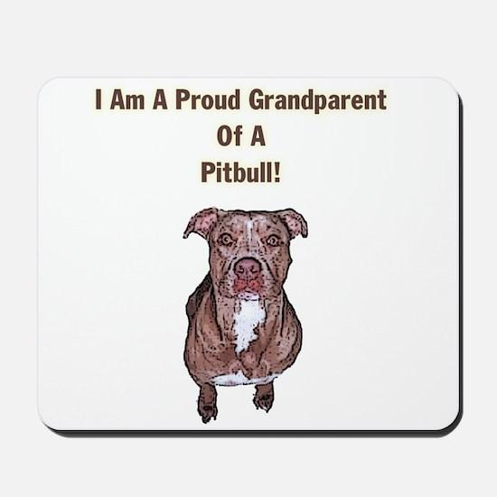 Proud Pitbull Grandparent Mousepad
