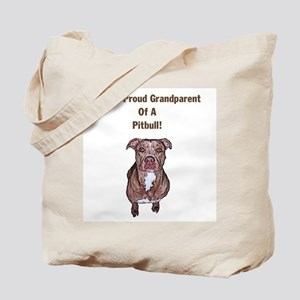 Proud Pitbull Grandparent Tote Bag