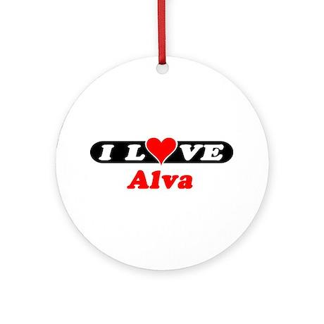 I Love Alva Ornament (Round)