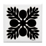 Hawaiian Quilt Breadfruit Tile Coaster