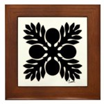 Hawaiian Quilt Breadfruit Framed Tile