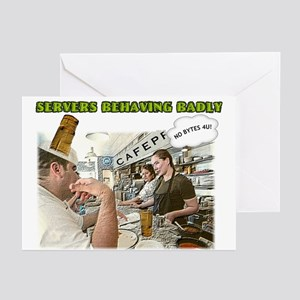 A Bad Server Greeting Cards (Pk of 10)