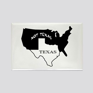 Texas / Not Texas Rectangle Magnet