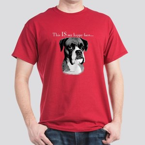 Boxer Happy Face Dark T-Shirt