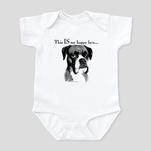 Boxer Happy Face Infant Bodysuit