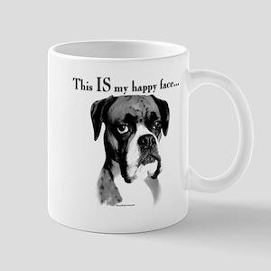 Boxer Happy Face Mug