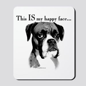 Boxer Happy Face Mousepad