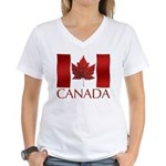 Canadian Flag Souvenir Women's V-Neck T-Shirt