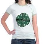 Celtic Four Leaf Clover Jr. Ringer T-Shirt