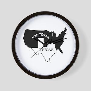Texas / Not Texas Wall Clock