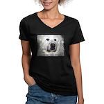 """""""Beautiful"""" Women's V-Neck Dark T-Shirt"""