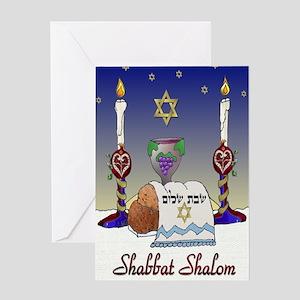 Judaica Shabbat Shalom Greeting Cards