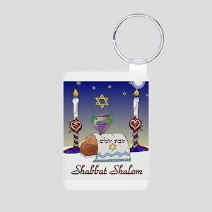 Judaica Shabbat Shalom Keychains