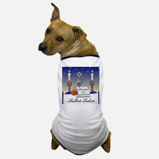 Judaica Shabbat Shalom Dog T-Shirt