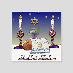 Shabbat shalom stickers cafepress judaica shabbat shalom sticker thecheapjerseys Choice Image