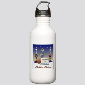 Judaica Shabbat Shalom Water Bottle