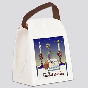 Judaica Shabbat Shalom Canvas Lunch Bag