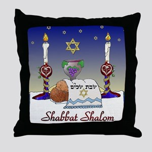 Judaica Shabbat Shalom Throw Pillow